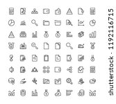 business icon set. collection... | Shutterstock .eps vector #1192116715