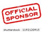 grunge official sponsor word...   Shutterstock .eps vector #1192120915