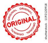 grunge red original word round... | Shutterstock .eps vector #1192120918