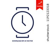vector wrist watch icon | Shutterstock .eps vector #1192123318