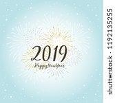 2019 happy new year...   Shutterstock .eps vector #1192135255