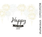 2019 happy new year... | Shutterstock .eps vector #1192135258