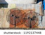 satellite dish background   Shutterstock . vector #1192137448