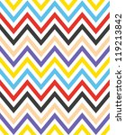 colorful zigzag seamless... | Shutterstock .eps vector #119213842