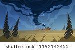 tornado disaster vector... | Shutterstock .eps vector #1192142455