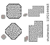 set of labyrinths  mazes... | Shutterstock .eps vector #1192144465