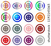 jeans clothes button set round... | Shutterstock .eps vector #1192145365