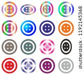 jeans clothes button set round... | Shutterstock .eps vector #1192145368