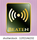 gold emblem or badge with... | Shutterstock .eps vector #1192146232