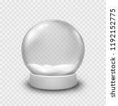 snow globe or christmas ball... | Shutterstock .eps vector #1192152775