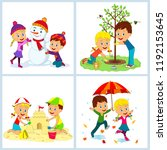 Kids Boy And Girl At For...