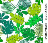seamless pattern with green... | Shutterstock .eps vector #1192155328