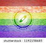 bandage plaster icon inside... | Shutterstock .eps vector #1192158685