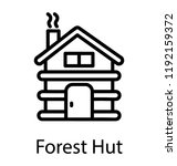 a hut type  building with... | Shutterstock .eps vector #1192159372