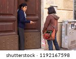 rome  italy  may 9  2013  two...   Shutterstock . vector #1192167598