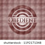 obedient red badge with... | Shutterstock .eps vector #1192171348