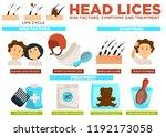 head lice risk factors symptoms ... | Shutterstock .eps vector #1192173058