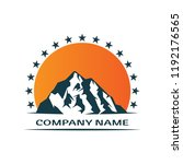 mountain logo icon design... | Shutterstock .eps vector #1192176565