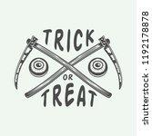 vintage retro halloween logo ... | Shutterstock .eps vector #1192178878