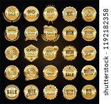 retro vintage sale badges and... | Shutterstock .eps vector #1192182358