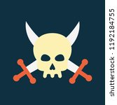 silhouette icon skull with... | Shutterstock .eps vector #1192184755