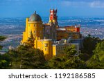 pena palace in sintra  ... | Shutterstock . vector #1192186585