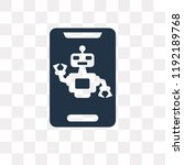 assistant vector icon isolated... | Shutterstock .eps vector #1192189768
