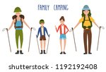 tourist family  father  mother  ... | Shutterstock .eps vector #1192192408