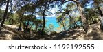 mediterranean forest sea coast  | Shutterstock . vector #1192192555