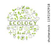background with ecology icons.... | Shutterstock .eps vector #1192192918