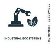 industrial ecosystems icon....