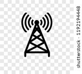 antenna vector icon isolated on ... | Shutterstock .eps vector #1192194448