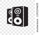 speakers vector icon isolated... | Shutterstock .eps vector #1192194655