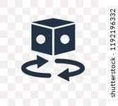 360 degrees vector icon... | Shutterstock .eps vector #1192196332