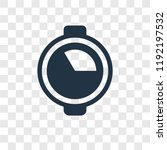 quarter vector icon isolated on ... | Shutterstock .eps vector #1192197532