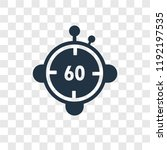 minute countdown vector icon... | Shutterstock .eps vector #1192197535