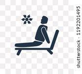 man sunbathing vector icon...   Shutterstock .eps vector #1192201495