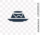 creme caramel vector icon... | Shutterstock .eps vector #1192205515