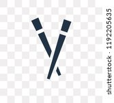 chopsticks vector icon isolated ... | Shutterstock .eps vector #1192205635