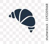 bakery croissant vector icon... | Shutterstock .eps vector #1192205668