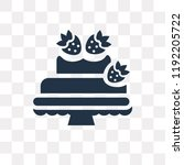 decorated cake vector icon... | Shutterstock .eps vector #1192205722