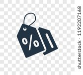 discount vector icon isolated... | Shutterstock .eps vector #1192207168