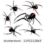 spider venomous silhouette... | Shutterstock .eps vector #1192212865