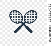tennis racket vector icon... | Shutterstock .eps vector #1192214782