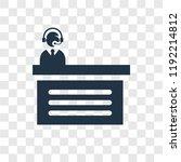 commentator vector icon... | Shutterstock .eps vector #1192214812