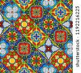 mexican talavera ceramic tile... | Shutterstock .eps vector #1192216225