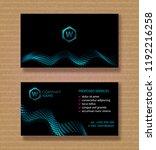 vector set. business card... | Shutterstock .eps vector #1192216258