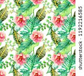 hand drawn watercolor seamless... | Shutterstock . vector #1192216585