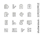 survey related icons  thin... | Shutterstock .eps vector #1192219912