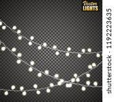 christmas lights isolated on... | Shutterstock .eps vector #1192223635